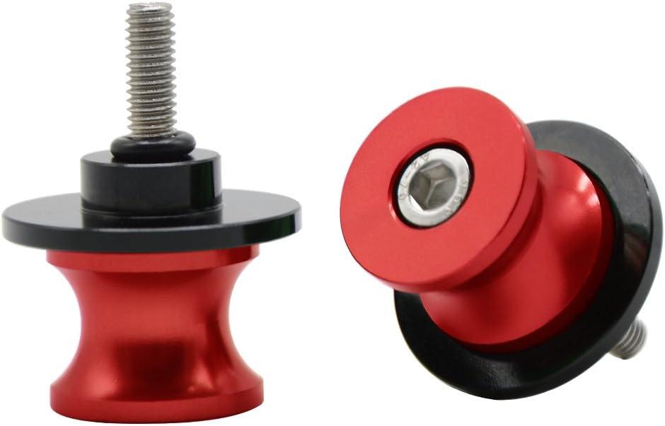 Red Motorbike Universal 10MM CNC Aluminum Swingarm Sliders Spools Stand Screws for Kawasaki Z750 Z1000 Ninja 250R//650R//DUKE 125 200 390 690 RC 125 200 390//Yamaha FZR 400 1000 600R