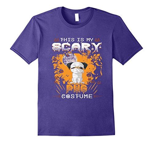 Mens Pug Halloween Costume Shirt Funny for Women Men Kids 2XL Purple