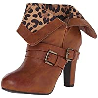 Dolce by Mojo Moxy Women's Dizzy Boot, Camel, 6.5 M US