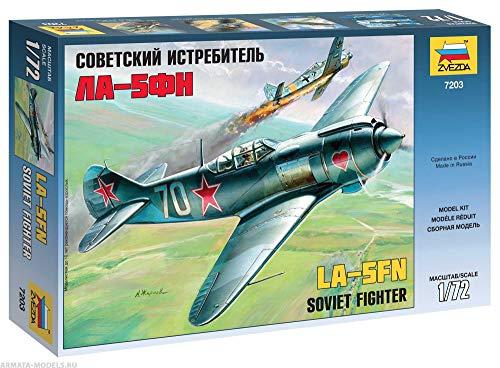 ZVEZDA 7203 Lavochkin La-5FN Soviet Fighter - Plastic Model Kit Scale 1/72 42 Details Lenght - Kit Soviet Fighter