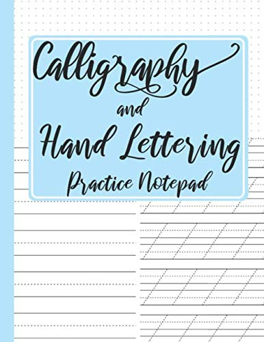 Calligraphy and Hand Lettering Practice Notepad: Modern Calligraphy Slant Angle