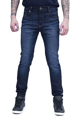 Men's Soft Stretch Washed Skinny Jeans - Proudly Made in USA - Dark Denim - 30
