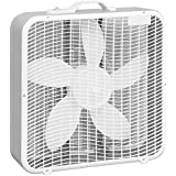 Comfort Zone 20 Box Fan With Top Handle, White