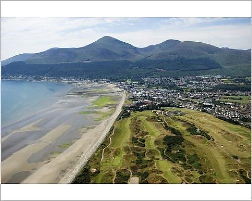 Photographic Print of The Royal County Down golf course with the Slieve Donard Hotel by Media Storehouse - County Golf Course