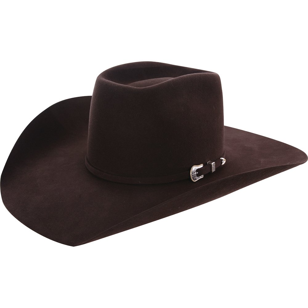 368f2ae88b0 Nrs american hat company mens chocolate brim open crown felt cowboy hat at  amazon mens clothing