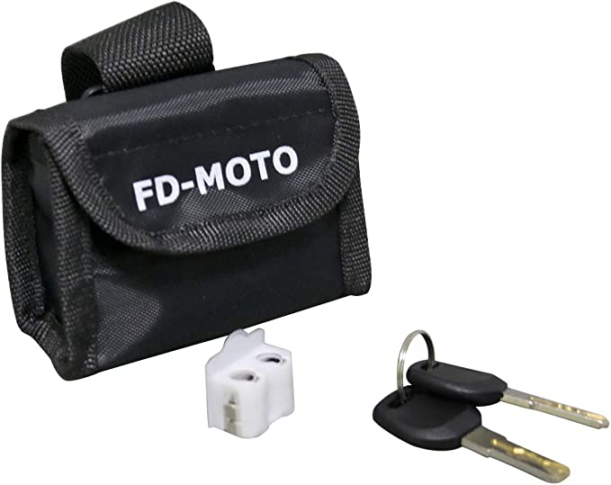 Fd Moto 110 Db Alarm Disc Brake Lock Anti Theft Motorcycle Lock With 7 Mm Pin Security Lock With 1 5 M Reminder Cable And Carry Bag For Motorcycles Scooters Bicycles Auto