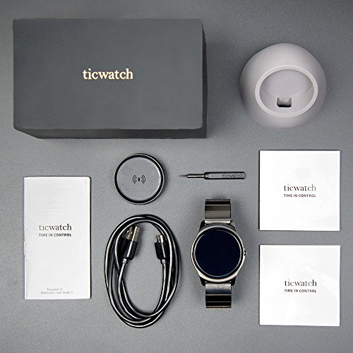 Ticwatch 2 Classic 42mm Stainless Steel Smartwatch - Onyx - Mobvoi  Voice Contral Ticwear OS Compatible with Android  and iOS,Personal Assistant on your wrist. by Ticwatch (Image #4)