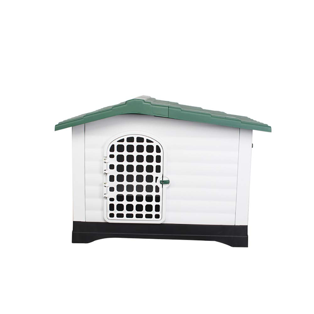 Green Luxury Pet Dog House Removable and Ventilated Four Seasons Universal Kennel Safe and Non-Toxic Suitable for Small and Medium Pets,Green