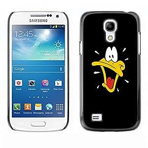 ROKK CASES / Samsung Galaxy S4 Mini i9190 MINI VERSION! / BLACK CARTOON DUCK / Delgado Negro Plástico caso cubierta Shell Armor Funda Case Cover