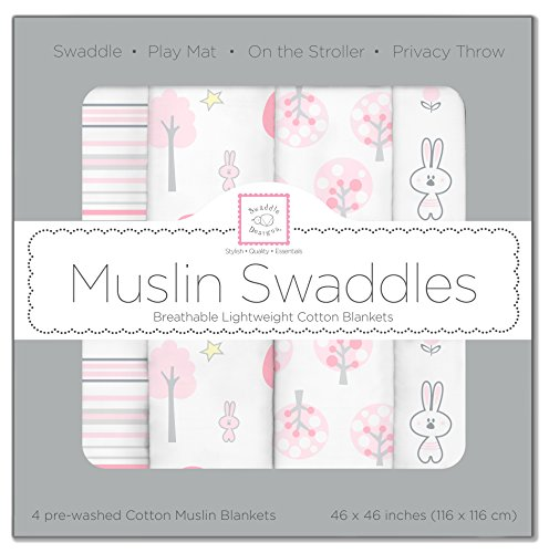 SwaddleDesigns Cotton Swaddle Blankets Thicket