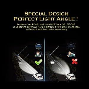 8000 Lumens LED Car Headlight Bulbs Conversion Kit JVSURF Extremely Bright Headlamp - H11 (H1,H3, H4,H7) - 30W, 6000K Cool White CREE and Far Dual Use- 2 Yr Warranty (H3, Black)