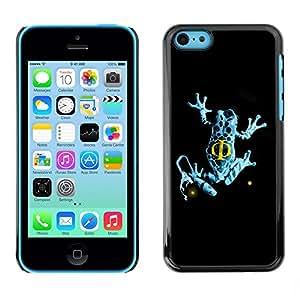 "For Apple iPhone 5C , S-type Azul de la franja de la rana"" - Arte & diseño plástico duro Fundas Cover Cubre Hard Case Cover"