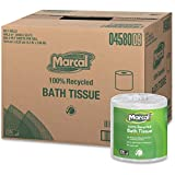 Marcal Toilet Paper 100% Recycled - 2 Ply, White Bath Tissue, 504 Sheets Per Roll - 80 Rolls Per Case Green Seal Certified Toilet Paper 04580