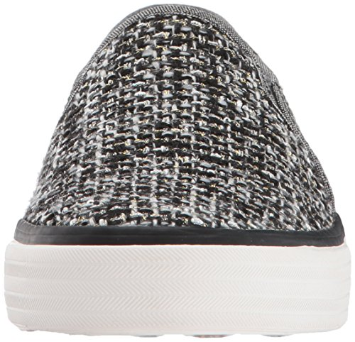 Keds Dames Dubbeldekker Sequin Knit Fashion Sneaker Zwart
