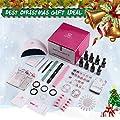 Makartt Gel Nail Polish Kit UV Light, Gel Polish with 24 Lamp 6 Colors Gel Polish Base Top Coat Manicure Tools Nail Art Supplies for Home Use Christmas Gifts P-16