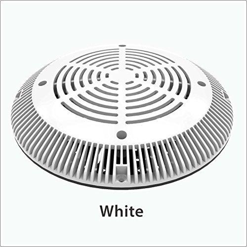 - Color Match Pool Fittings 10-inch VGB Retrofit Universal Drain Cover & Adaptor Plate (White)