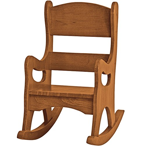Amish Buggy Toys Kid's Play Wooden Furniture Rocker, Walnut by Amish Buggy Toys