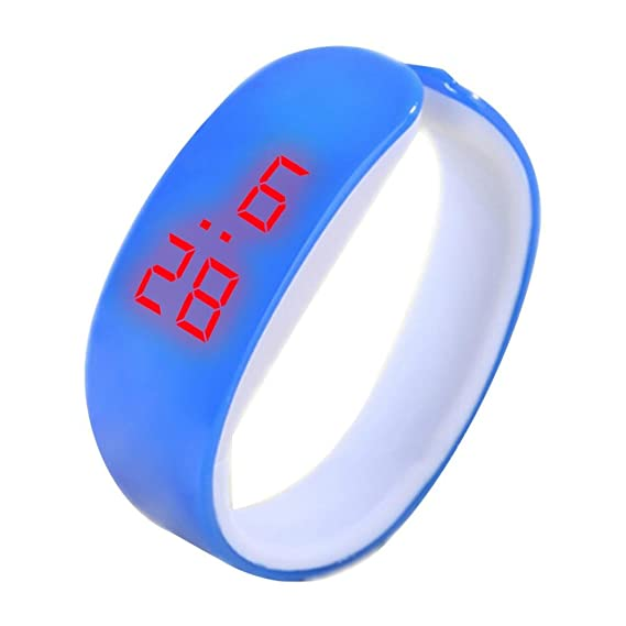 LED Fitness Bracelet Watches Women Men, Iuhan Fashion LED Digital Display Bracelet Watch Dolphin Young