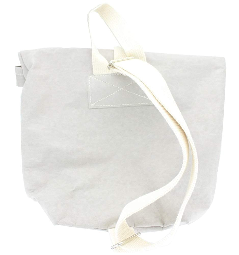 Uncuffed US001 Stone Grey Color Roll Up Lunch Bag with Shoulder Strap Uncuffed Handmade with A Variety of Recycled Fiber Blends 7 W x 3 D x 14 H inches 7 W x 3 D x 14 H inches Handmade with A Variety of Recycled Fiber Blends .