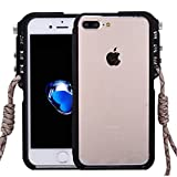 For cellphone Cases, For iPhone 8 Plus & 7 Plus 4th Design Trigger Aluminum Metallic Bumper Frame ( Color : Black )