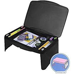 Folding Lap Desk, laptop desk, Breakfast Table, Bed Table, Serving Tray - The lapdesk Contains Extra Storage space and dividers, & folds very easy,great for kids, adults, boys, girls