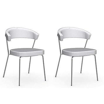 Inside - Juego de 2 sillas New York Design Italiana Estructura ...