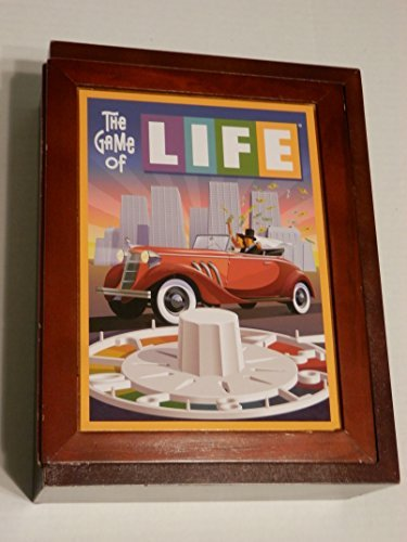 (Parker Brothers Vintage Game Collection Wooden Book Box The Game of Life by Hasbro)