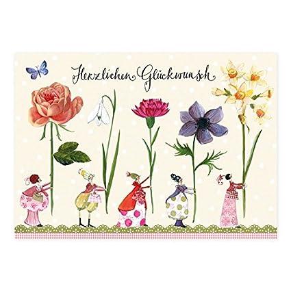 Juego de 10 tarjetas postales de cumpleaños de Silke Leffler ...