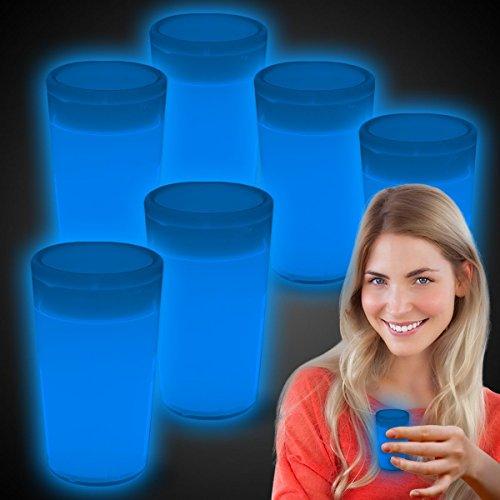 Glow In The Dark Shot Glass (Glow Shot Glasses - 6 Pack)