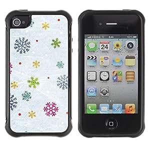 LASTONE PHONE CASE / Suave Silicona Caso Carcasa de Caucho Funda para Apple Iphone 4 / 4S / Snow Winter Gift Christmas