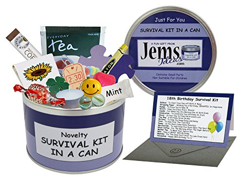 18th Birthday Survival Kit In A Can Novelty Fun Gift