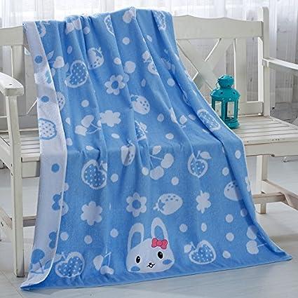 ZHFC Jacquard bordado niños toalla colcha puro algodón caricatura cuadrado toalla de baño grande verano aire