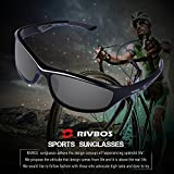 RIVBOS Polarized Sports Sunglasses Driving Glasses for Men Women Tr90 Frame for Cycling Baseball Running 842