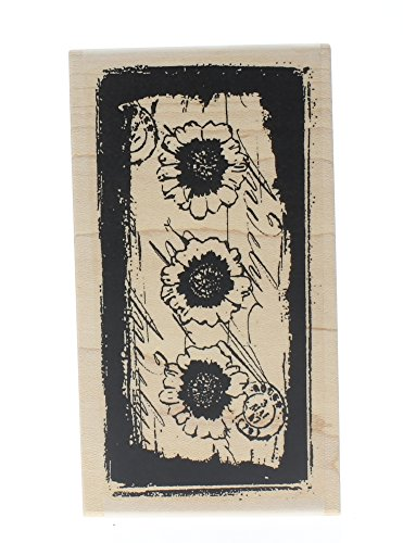 (Cancelled Post Mark Petals Collage Stampington And Co Wooden Rubber Stamp)