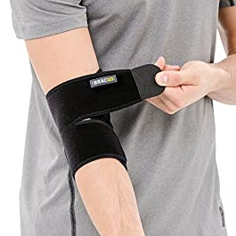 Bracoo Elbow Brace, Reversible Neoprene Support Wrap for Joint, Arthritis Pain Relief, Tendonitis, Sports Injury…