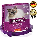 Relaxivet Adjustable Dogs & Cats Calming Collar with Appeasing Effect – Cat and Dog Anxiety Relief – Anti-Anxiety Collar with Long-Lasting Calming Effect