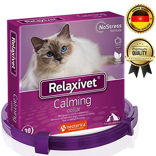 Relaxivet Calming Collar For Cats and Small Dogs -...
