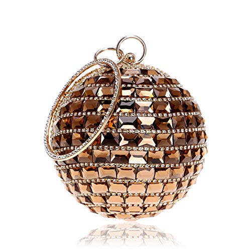Borsa donna Golden festa vintage palline con motivo pratico da matrimonio sera da Yzibei da per borsa Grey Colore da a sposa trapano Pochette da banchetto 1Fxwzqqv