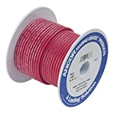 Ancor 106802 Marine Grade Electrical Primary Tinned Copper Boat Wiring (12-Gauge, Red, 25-Feet)