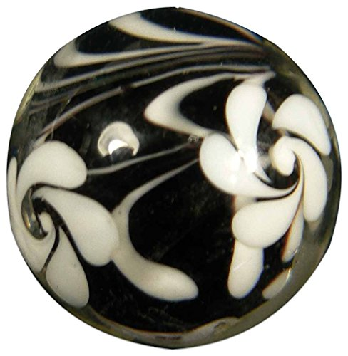 "Unique  Custom {7/8"" Inch} One Single Large ""Round"" Opaque Marble Made of Glass for Filling Vases, Games  Decor w/ Shiny Swirled Handmade Contempora…"