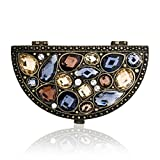 Half Round Mirror Compact with Multi-Color Stones Model No. M-115 Review