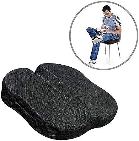 Coxis ortopédico de espuma de memoria cojín del asiento, amortiguador de asiento para el dolor lumbar y el alivio del dolor en el cóccix ciática, ajuste para Silla de oficina, asientos del coche