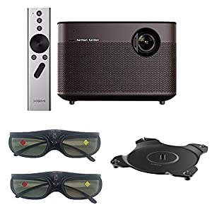 XGIMI H1 Aurora 1080p Smart Home Theater Projector With 1920*1080p 1000 Ansi Lumens 2 Pairs 3D Glasses HiFi Karman/Kardon Bluetooth Speaker and Base 602860388337Pan Adapter