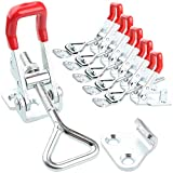 Eliseo Adjustable Toggle Clamp, 6Pack 551lbs Holding Capacity Heavy Duty Lockable 4002 Style Toggle Latch Hasp Clamp for Door, Box Case Trunk, Lid, Jig. Quick Release Pull Latch, Metal Draw Latch