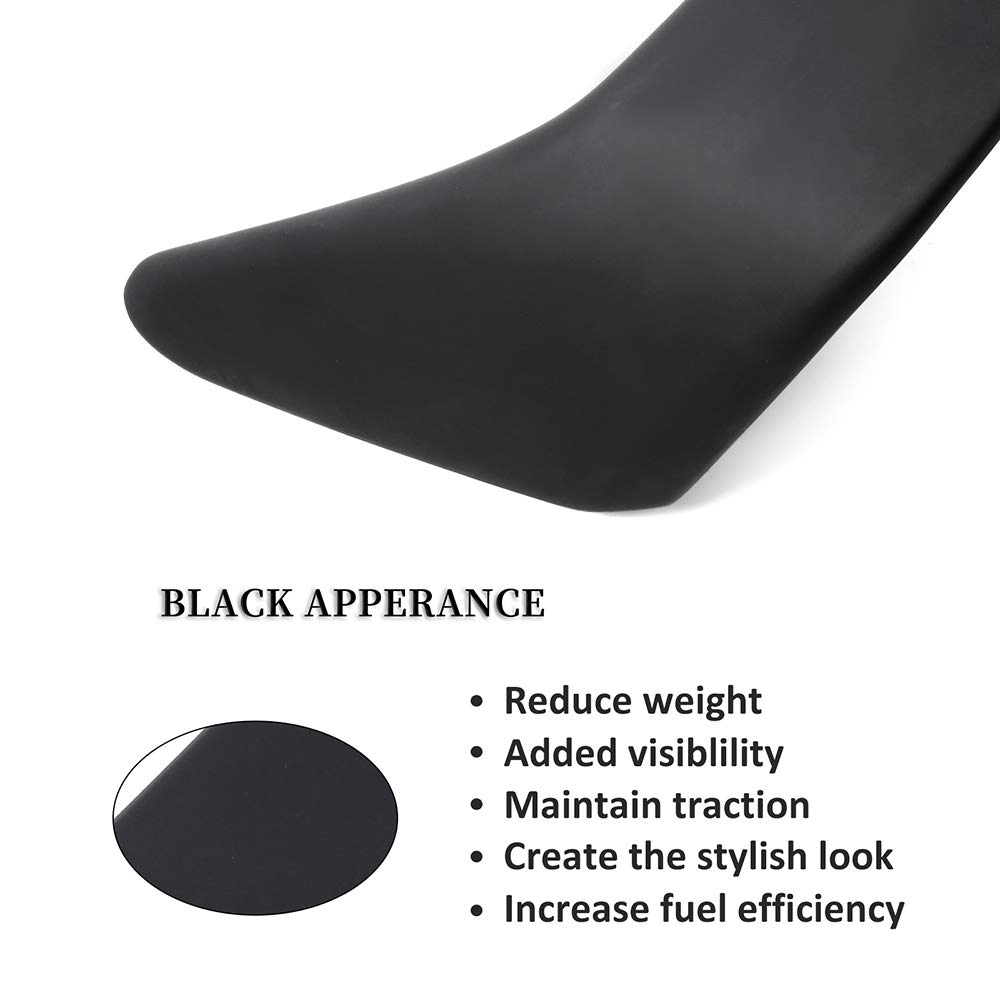 ECCPP ABS Spoiler Wing Unpainted Rear Trunk Spoiler Wing Replacement fit for 1994-2001 Acura Integra