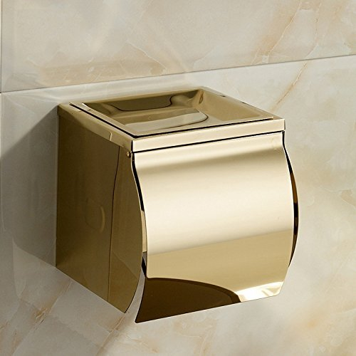 FACAIG Parliament gold of the Stainless Steel Closed paper paper towel roll toilet toilet paper tray ashtray box