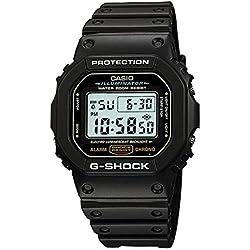 G-Shock Men's DW5600E-1V,Black Rubber/Black,US