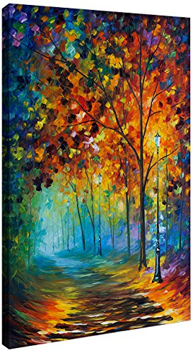 Picture Perfect International Giclee Stretched Wall Art by Leonid Afremov Fog Alley Artists-Canvas, 18 x 30 x 1