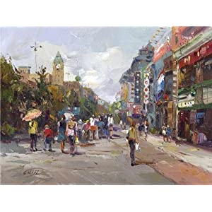 The Perfect Effect Canvas Of Oil Painting 'Decoration: The Business Street' ,size: 18x24 Inch / 46x61 Cm ,this Cheap But High Quality Art Decorative Art Decorative Canvas Prints Is Fit For Wall Art Artwork And Home Decor And Gifts