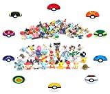 24 Pokemon Figures - Mini Cake Topper Toys - Pikachu Guaranteed Random Bonus Toy
